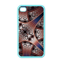 Lines Patterns Background  Apple Iphone 4 Case (color)