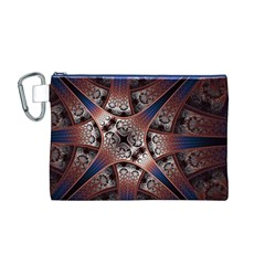 Lines Patterns Background  Canvas Cosmetic Bag (m)