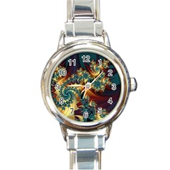Patterns Paint Ice  Round Italian Charm Watch