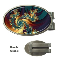 Patterns Paint Ice  Money Clips (oval)