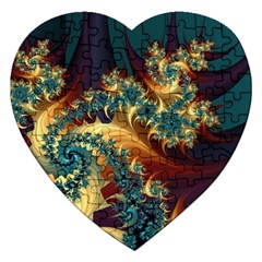 Patterns Paint Ice  Jigsaw Puzzle (heart)