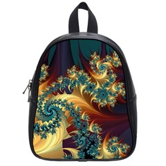 Patterns Paint Ice  School Bag (small)