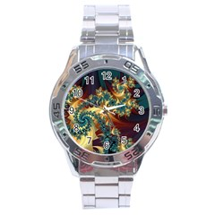 Patterns Paint Ice  Stainless Steel Analogue Watch
