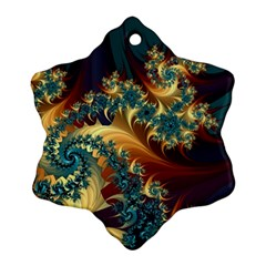 Patterns Paint Ice  Ornament (snowflake)