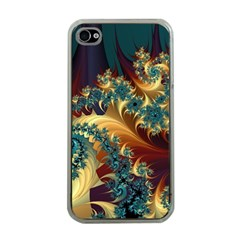 Patterns Paint Ice  Apple Iphone 4 Case (clear)