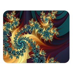 Patterns Paint Ice  Double Sided Flano Blanket (large)