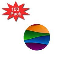 Layers Light Bright  1  Mini Magnets (100 Pack)
