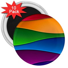 Layers Light Bright  3  Magnets (10 Pack)