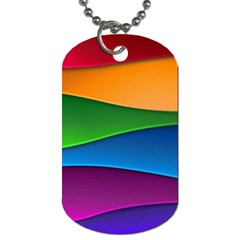 Layers Light Bright  Dog Tag (two Sides)