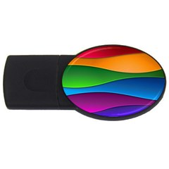 Layers Light Bright  Usb Flash Drive Oval (2 Gb)