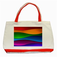 Layers Light Bright  Classic Tote Bag (red)