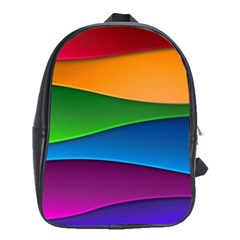 Layers Light Bright  School Bag (large)