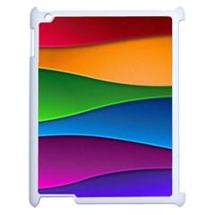 Layers Light Bright  Apple Ipad 2 Case (white)