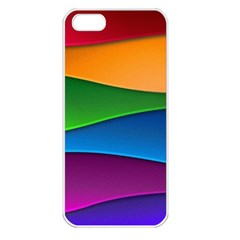 Layers Light Bright  Apple Iphone 5 Seamless Case (white)