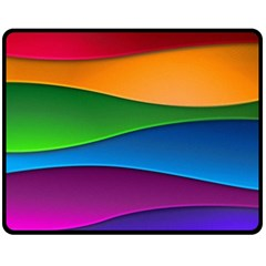 Layers Light Bright  Double Sided Fleece Blanket (medium)