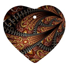 Patterns Background Dark  Heart Ornament (two Sides)