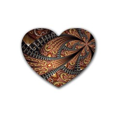 Patterns Background Dark  Heart Coaster (4 Pack)