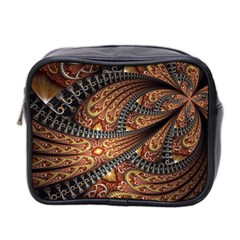 Patterns Background Dark  Mini Toiletries Bag 2 Side