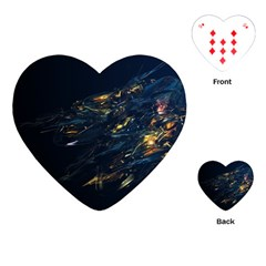 Spots Dark Lines Glimpses 3840x2400 Playing Cards (heart)