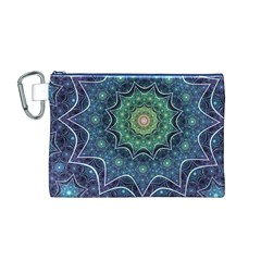 Background Line Light  Canvas Cosmetic Bag (m)