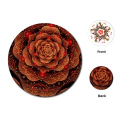 Flower Patterns Petals  Playing Cards (round)