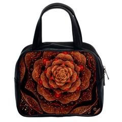 Flower Patterns Petals  Classic Handbags (2 Sides)