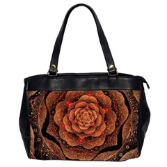 Flower Patterns Petals  Office Handbags (2 Sides)