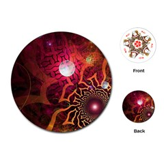 Explosion Background Bright  Playing Cards (round)