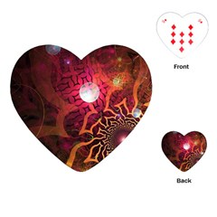 Explosion Background Bright  Playing Cards (heart)