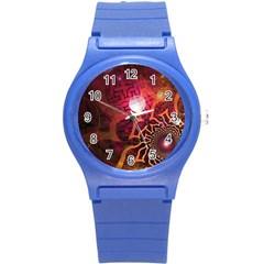 Explosion Background Bright  Round Plastic Sport Watch (s)