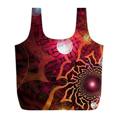 Explosion Background Bright  Full Print Recycle Bags (l)