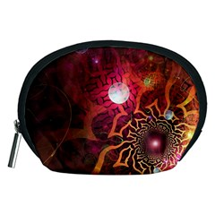 Explosion Background Bright  Accessory Pouches (medium)