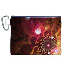 Explosion Background Bright  Canvas Cosmetic Bag (xl)