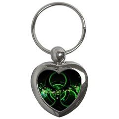 Radiation Sign Spot  Key Chains (heart)