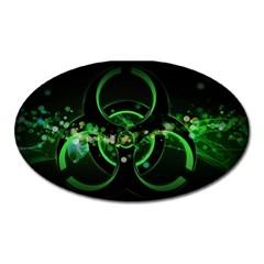 Radiation Sign Spot  Oval Magnet