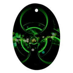 Radiation Sign Spot  Oval Ornament (two Sides)