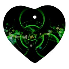 Radiation Sign Spot  Heart Ornament (two Sides)