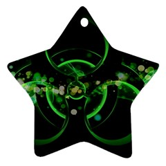 Radiation Sign Spot  Star Ornament (two Sides)