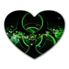 Radiation Sign Spot  Heart Mousepads