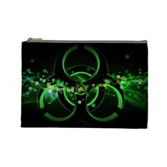 Radiation Sign Spot  Cosmetic Bag (large)