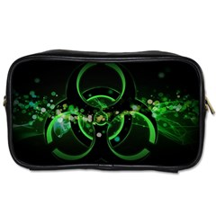 Radiation Sign Spot  Toiletries Bags 2 Side