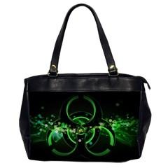 Radiation Sign Spot  Office Handbags (2 Sides)