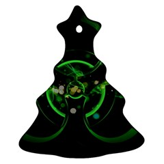 Radiation Sign Spot  Christmas Tree Ornament (two Sides)