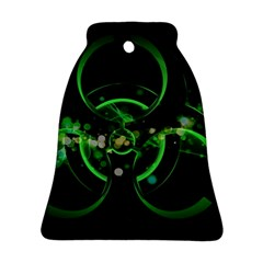 Radiation Sign Spot  Bell Ornament (two Sides)