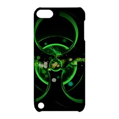 Radiation Sign Spot  Apple Ipod Touch 5 Hardshell Case With Stand