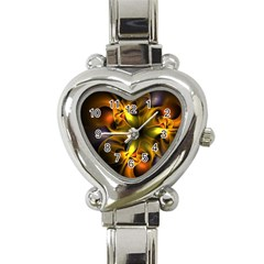 Art Fractal  Heart Italian Charm Watch