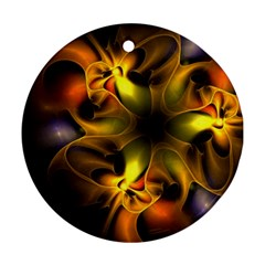 Art Fractal  Round Ornament (two Sides)