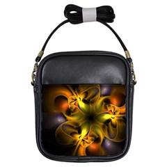 Art Fractal  Girls Sling Bags