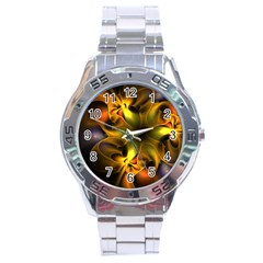 Art Fractal  Stainless Steel Analogue Watch