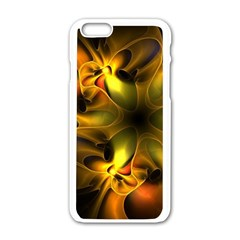 Art Fractal  Apple Iphone 6/6s White Enamel Case